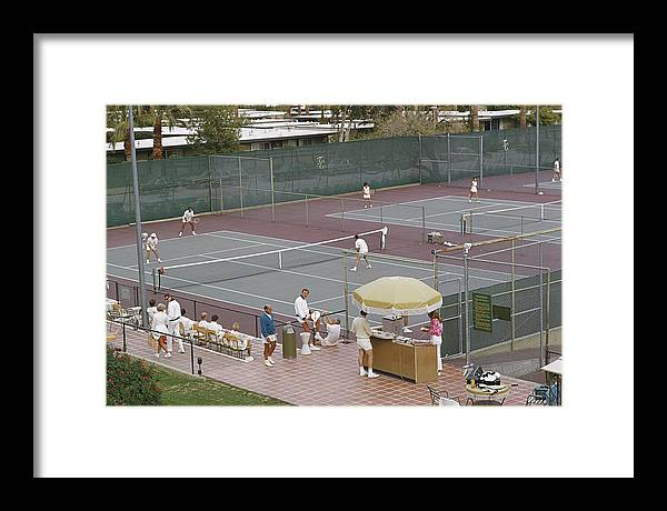 Tennis Framed Print featuring the photograph Palm Springs Tennis Club by Slim Aarons