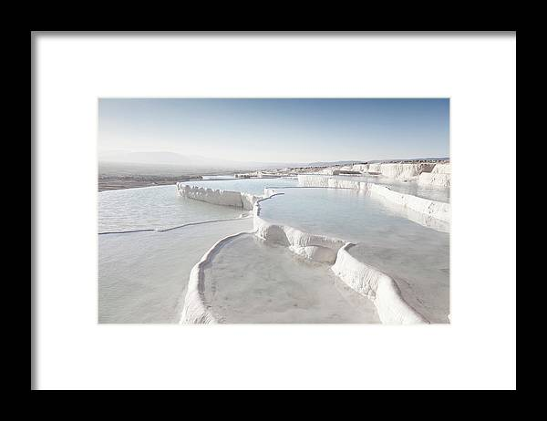 Mineral Framed Print featuring the photograph Pamukkale by Phooey