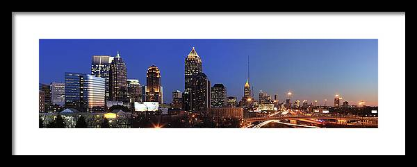 Atlanta Framed Print featuring the photograph Panorama Of Atlanta, Georgia by Jumper