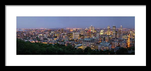 Tranquility Framed Print featuring the photograph Panorama Of Montreal Skyline by Wichan Yingyongsomsawas