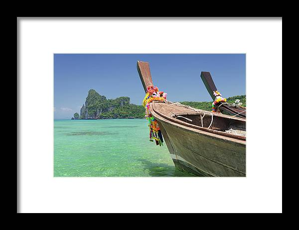 Tropical Rainforest Framed Print featuring the photograph Paradise Tropical Beach With Longtail by 4fr