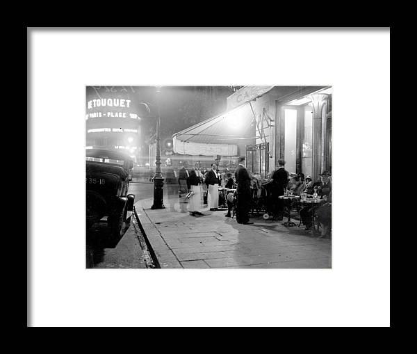 Paris Framed Print featuring the photograph Paris Cafe by Fox Photos