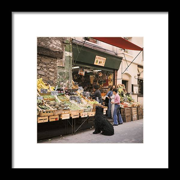 Paris Framed Print featuring the photograph Paris, Fruit And Vegetable Shop In The by Keystone-france