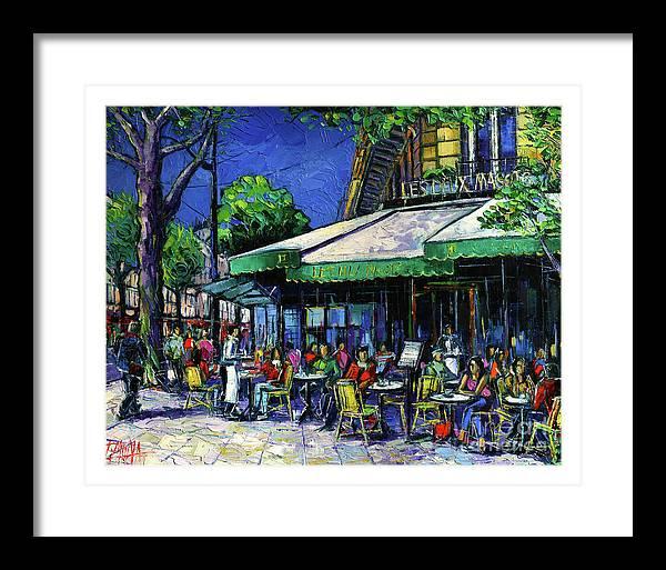 Parisian Cafe by Mona Edulesco