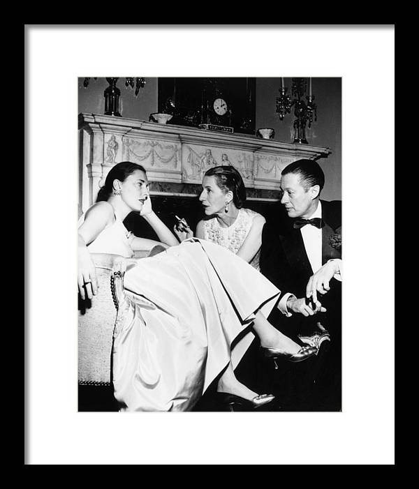 Slim Keith Framed Print featuring the photograph Park Avenue Party by Slim Aarons