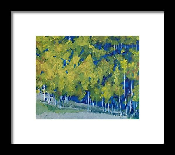 Forest Framed Print featuring the painting Park City Forest by Philip Fleischer