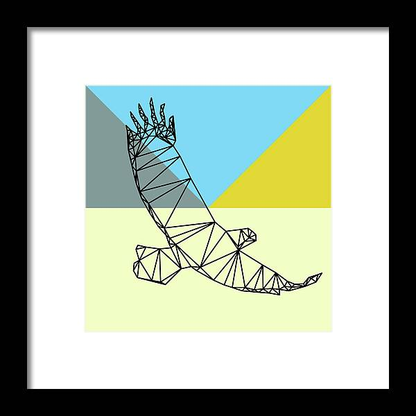 Eagle Framed Print featuring the digital art Party Eagle by Naxart Studio