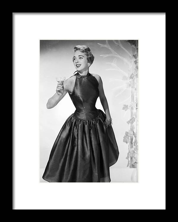 1950-1959 Framed Print featuring the photograph Party Lady by Chaloner Woods