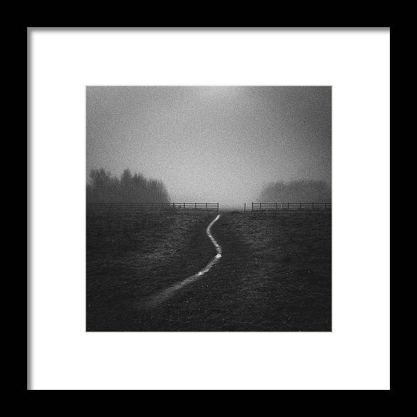 Tranquility Framed Print featuring the photograph Path In Mist by Doug Chinnery