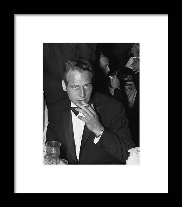 Smoking Framed Print featuring the photograph Paul Newman by William Lovelace