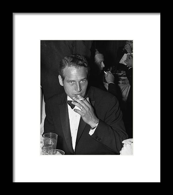 Paul Newman Framed Print featuring the photograph Paul Newman by William Lovelace