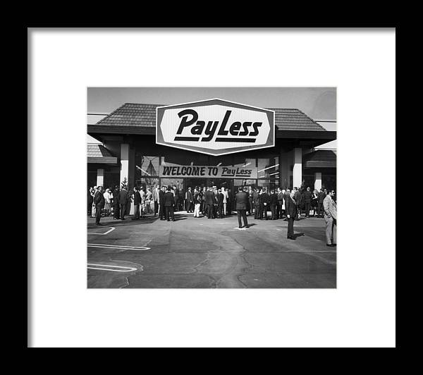 Crowd Framed Print featuring the photograph Pay Less For Drugs by American Stock Archive