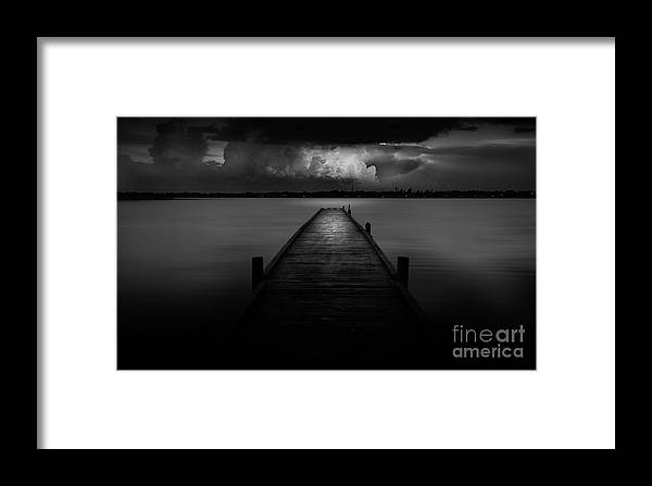 Pier Framed Print featuring the photograph Peaceful Retreat by Marvin Spates