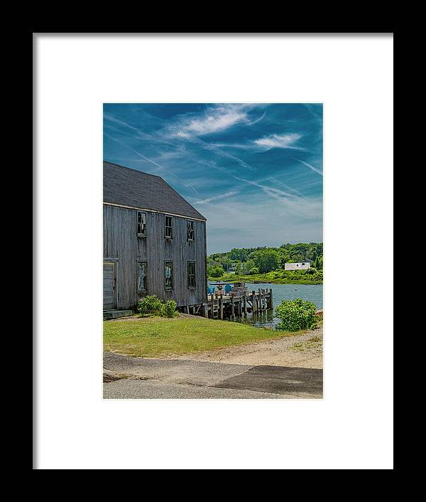 Kennebunkport Framed Print featuring the photograph Peaceful View Near Kennebunkport by Betsy Knapp