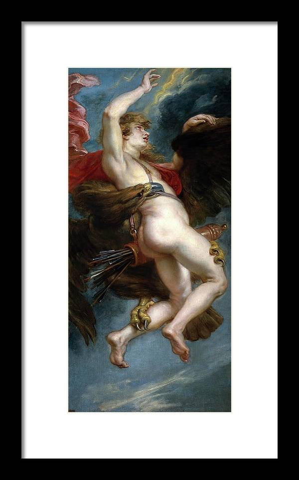 Peter Paul Rubens Framed Print featuring the painting Pedro Pablo Rubens / 'the Rape Of Ganymede', 1636-1637, Flemish School, Oil On Canvas. by Peter Paul Rubens -1577-1640-