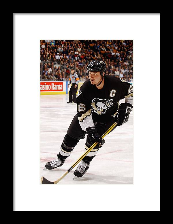 Mario Lemieux Framed Print featuring the photograph Penguins V Maple Leafs by Dave Sandford