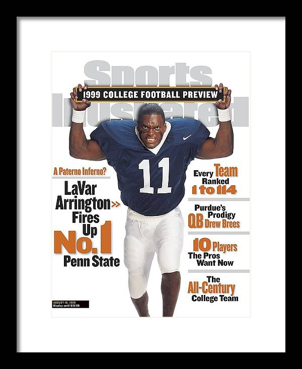 Season Framed Print featuring the photograph Penn State University Lavar Arrington, 1999 College Sports Illustrated Cover by Sports Illustrated