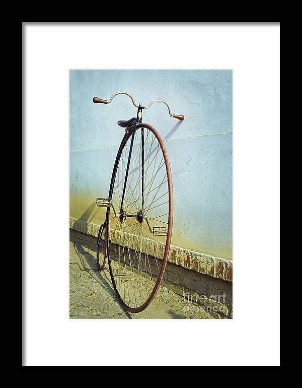 Big Framed Print featuring the photograph Penny Farthing ,high by Unclepepin