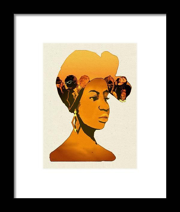 African American Framed Print featuring the digital art People In My Head by Regina Wyatt