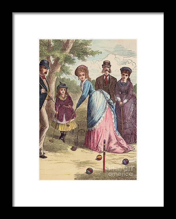 Art Framed Print featuring the photograph People Playing Croquet by Bettmann