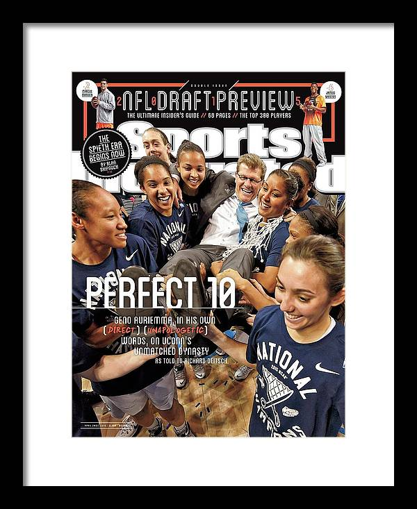 Magazine Cover Framed Print featuring the photograph Perfect 10 Geno Auriemma, In His Own Direct Unapologetic Sports Illustrated Cover by Sports Illustrated