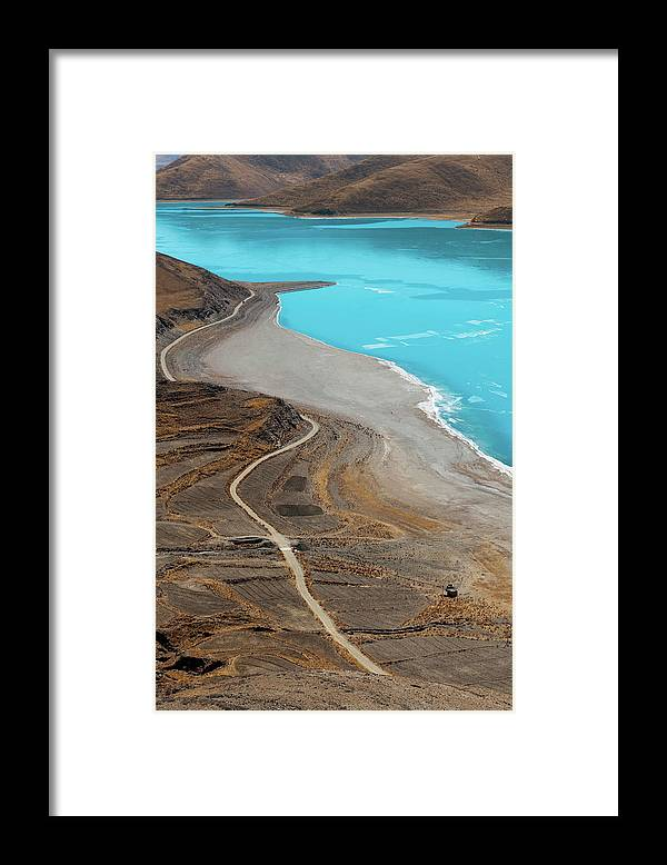 Tranquility Framed Print featuring the photograph Perfect Curve by Touch The Word By Heart.