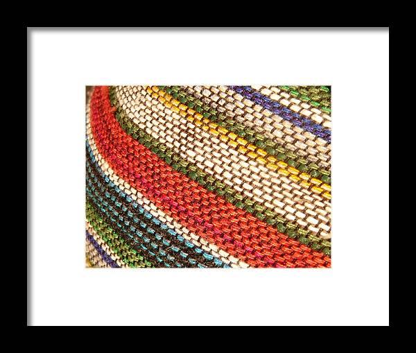 Art Framed Print featuring the photograph Peruvian Fabric Art by Images By Luis Otavio Machado