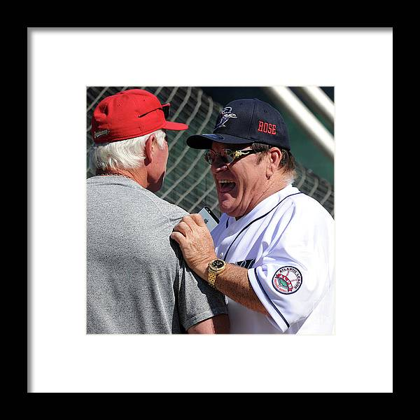 Bridgeport Framed Print featuring the photograph Pete Rose Manages The Bridgeport by Christopher Pasatieri