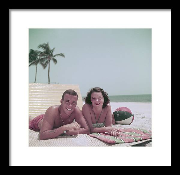 1950-1959 Framed Print featuring the photograph Peter Pulitzer by Slim Aarons