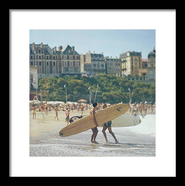 People Framed Print featuring the photograph Peter Viertel by Slim Aarons