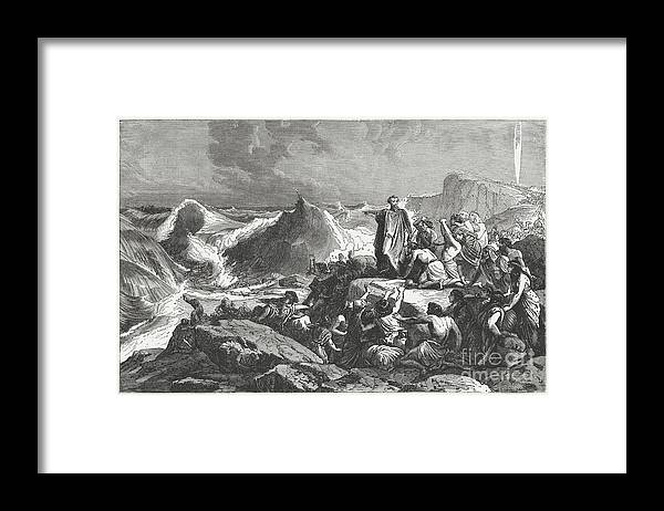 Drowning Framed Print featuring the digital art Pharaohs Downfall In The Red Sea Exodus by Zu 09