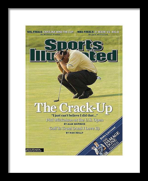 Magazine Cover Framed Print featuring the photograph Phil Mickelson, 2006 Us Open Sports Illustrated Cover by Sports Illustrated