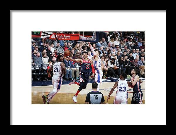 Nba Pro Basketball Framed Print featuring the photograph Philadelphia 76ers V Washington Wizards by Stephen Gosling