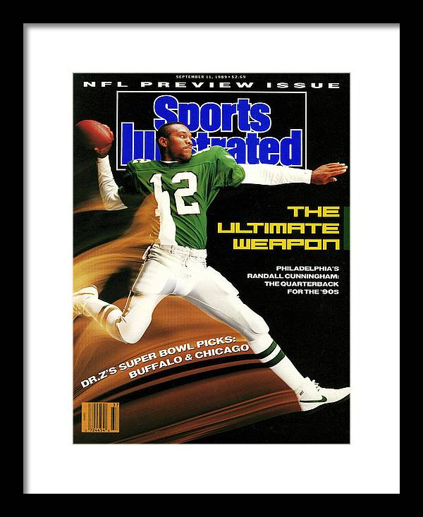 Magazine Cover Framed Print featuring the photograph Philadelphia Eagles Qb Randall Cunningham, 1989 Nfl Sports Illustrated Cover by Sports Illustrated