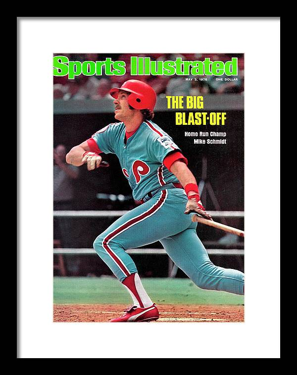 Magazine Cover Framed Print featuring the photograph Philadelphia Phillies Mike Schmidt... Sports Illustrated Cover by Sports Illustrated