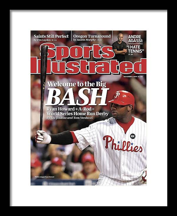 Playoffs Framed Print featuring the photograph Philadelphia Phillies Ryan Howard, 2009 Nl Championship Sports Illustrated Cover by Sports Illustrated