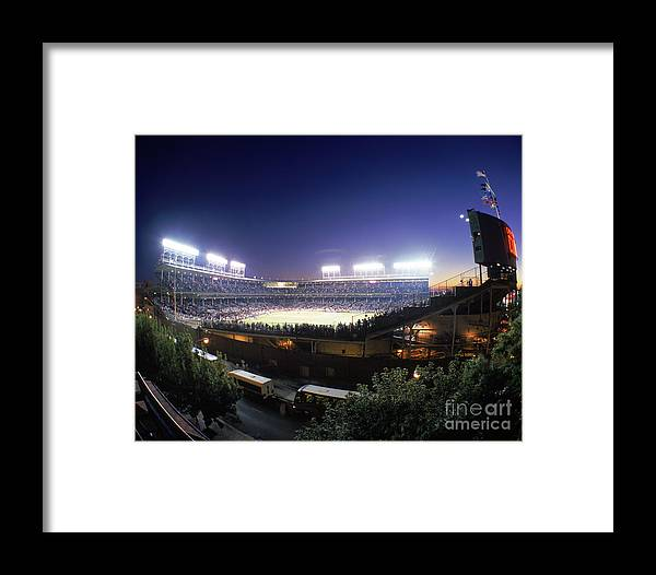 National League Baseball Framed Print featuring the photograph Philadelphia Phillies V Chicago Cubs by Jerry Driendl