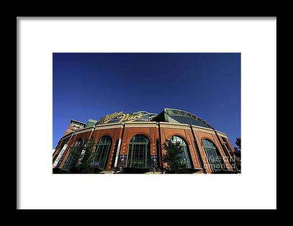 Playoffs Framed Print featuring the photograph Philadelphia Phillies V Milwaukee by Jim Mcisaac
