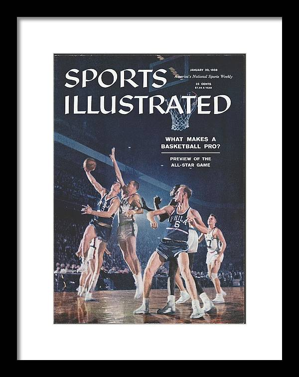 Magazine Cover Framed Print featuring the photograph Philadelphia Warriors George Dempsey And Neil Johnston Sports Illustrated Cover by Sports Illustrated