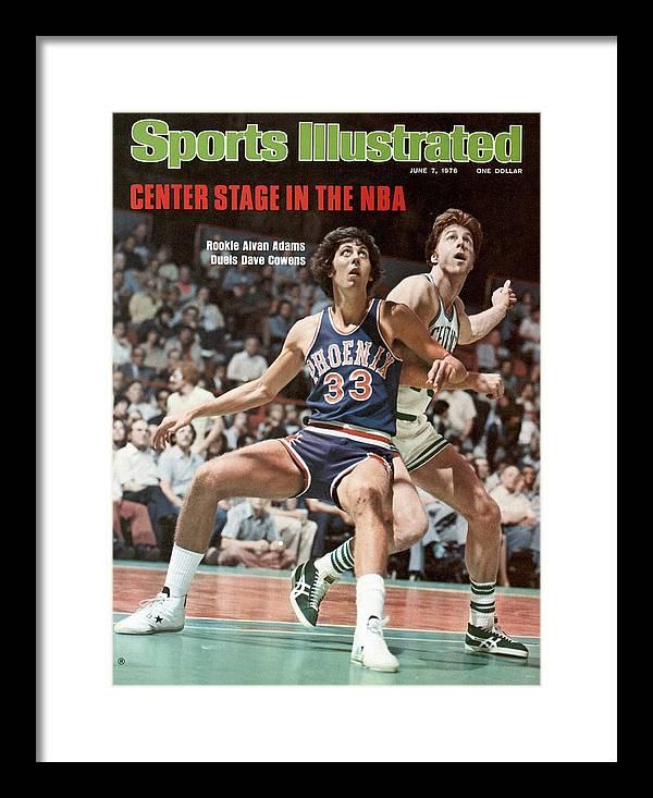 Magazine Cover Framed Print featuring the photograph Phoenix Suns Alvan Adams, 1976 Nba Finals Sports Illustrated Cover by Sports Illustrated