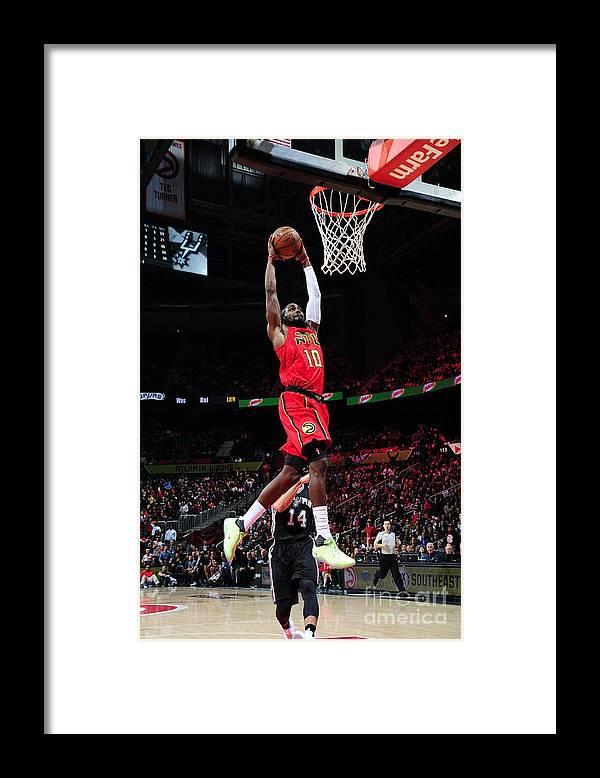Atlanta Framed Print featuring the photograph Phoenix Suns V Atlanta Hawks by Scott Cunningham