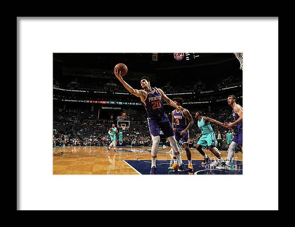 Nba Pro Basketball Framed Print featuring the photograph Phoenix Suns V Charlotte Hornets by Brock Williams-smith