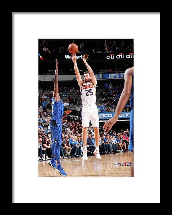 Sports Ball Framed Print featuring the photograph Phoenix Suns V Dallas Mavericks by Danny Bollinger