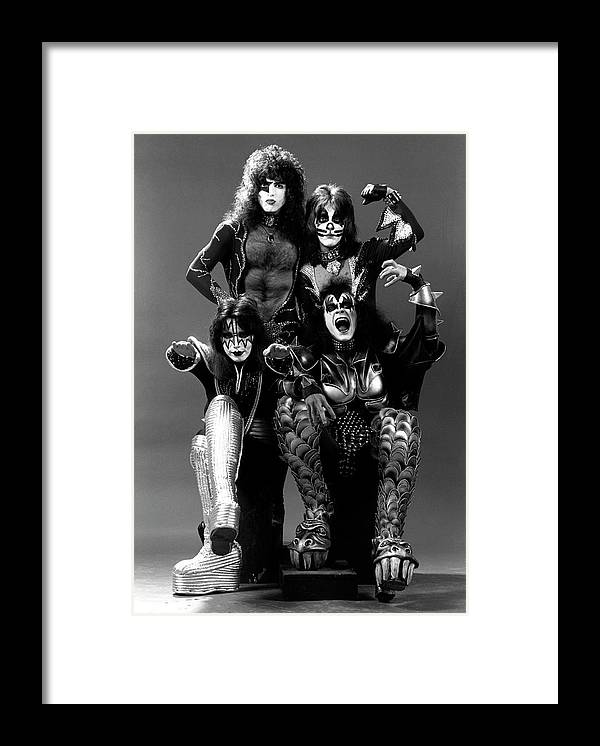 Heavy Metal Framed Print featuring the photograph Photo Of Ace Frehley And Peter Criss by Fin Costello