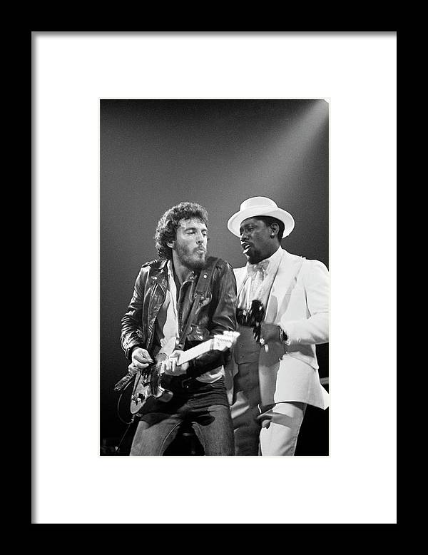Music Framed Print featuring the photograph Photo Of Bruce Springsteen And Clarence by Fin Costello