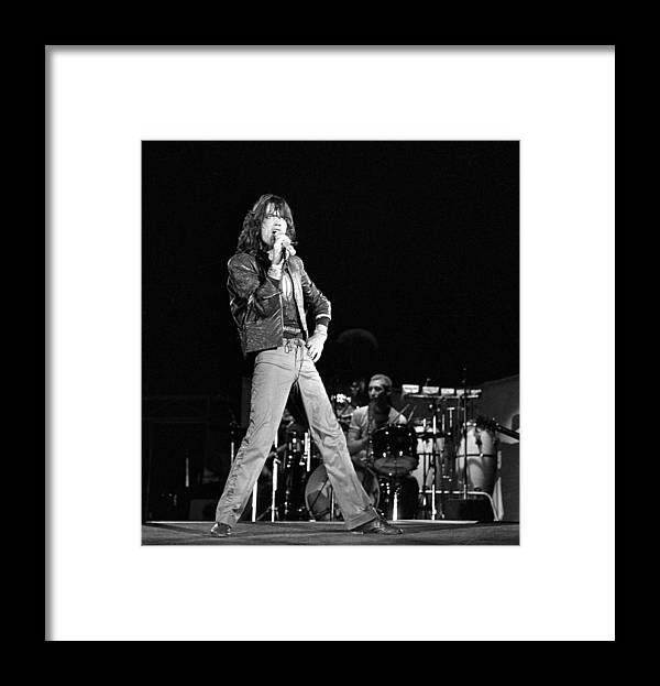 Mick Jagger Framed Print featuring the photograph Photo Of Charlie Watts And Mick Jagger by Graham Wiltshire