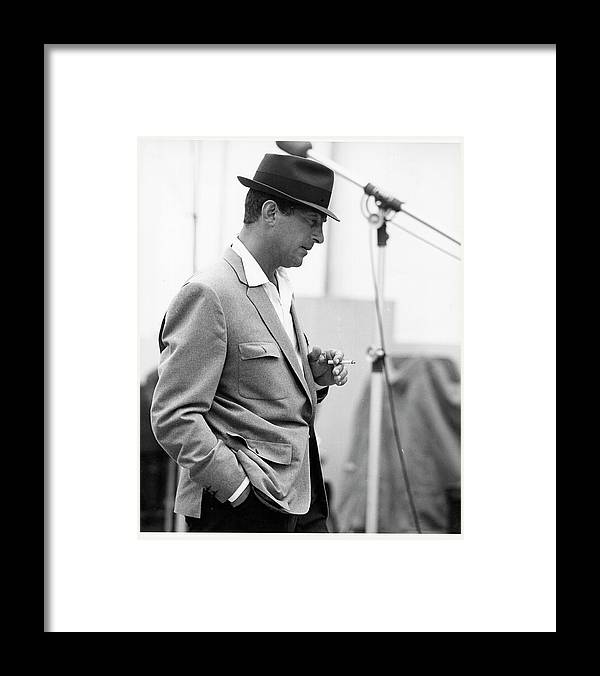 Black And White Framed Print featuring the photograph Photo Of Dean Martin by Michael Ochs Archives