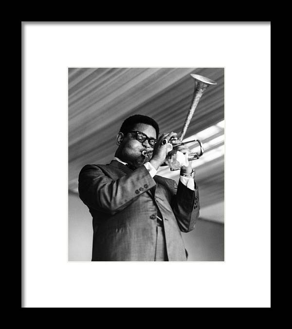 Music Framed Print featuring the photograph Photo Of Dizzy Gillespie by David Redfern