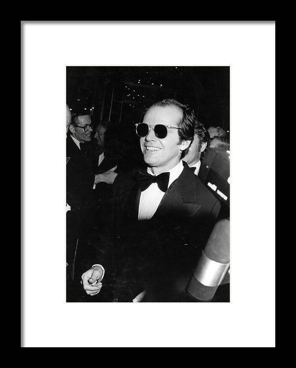 City Of Los Angeles Framed Print featuring the photograph Photo Of Jack Nicholson by Michael Ochs Archives