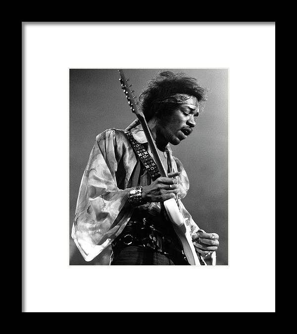 Music Framed Print featuring the photograph Photo Of Jimi Hendrix And Jimi Hendrix by David Redfern
